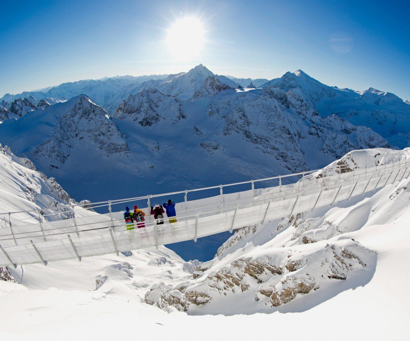 Захватывающие горнолыжные курорты в Альпах